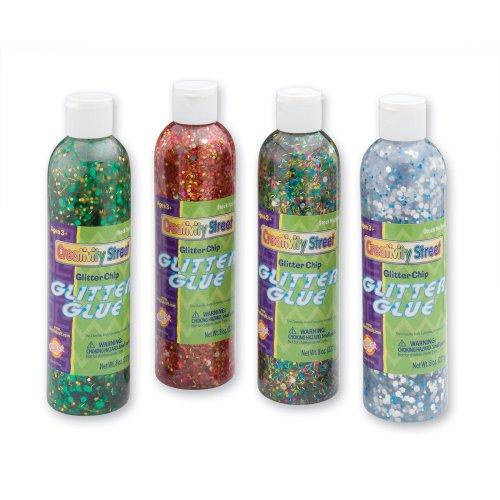 8 oz. Bottles Glitter Chip Glue - 8 per pack