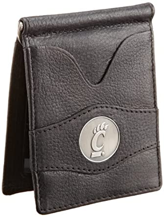 Danbury Men's University Of Cincinnati Front Pocket Money Clip, Black, One Size