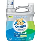 Snuggle Plus Super Fresh Fabric Softener Liquid with Odor Eliminating Technology, 95 Fluid Ounce