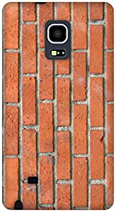 The Racoon Grip BRICK TEXTURE hard plastic printed back case / cover for Samsung Galaxy Note Edge