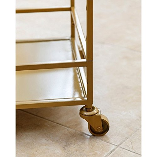 ABBYSON LIVING Marriot Gold Kitchen Bar Cart 2