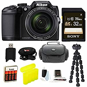 Nikon COOLPIX B500 Digital Camera w/ Sony 32GB Memory Card & Secure Digital Reader USB Accessory Bundle