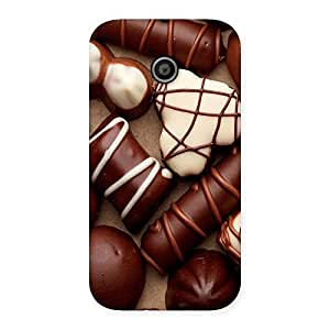 Chocolate Sweets Back Case Cover for Moto E