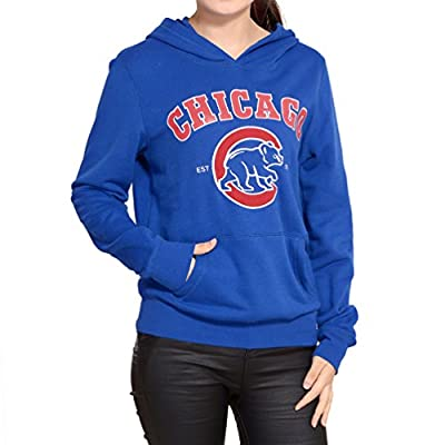 Chicago Cubs Womens Athletic Pullover Hoodie