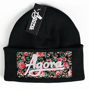 Agora Custom Floral Beanie Hat Bonnet
