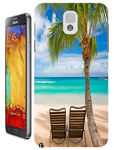 Cell Phone Case Beach Design Beautiful Sunshine Water Trees For Samsung Galaxy Note 3 No.4
