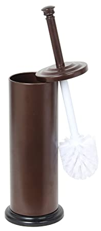 Home Basics Bronze Toilet Brush with Holder