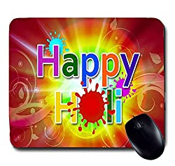 Awwsme Happy Colourful Holi Mousepad