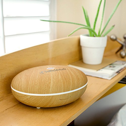 Wstation Essential Oil Diffuser: Best Aromatherapy Humidifier 400ml Mist Aroma with Color Changing Lights for Home Accesories Dark Bamboo By