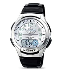 Casio AQ-180W-7BVES Mens Resin Combi Watch with Back light