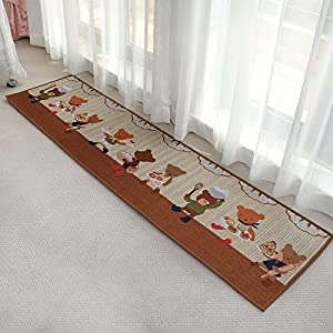 Ustide brown bedroom floor rug lovely Decorative kitchen floor mat