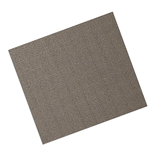 """Tapecase 3M Cn3490 9"""" X 10.5""""-25 Gray Non-Woven Conductive Fabric Tape, 10.5"""" Length, 9"""" Width, Rectangles (Pack Of 25)"""