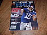 Maple Street Press magazine, New York Giants, Annual 2010-Eli Manning photo on cover.