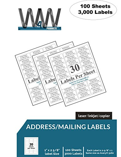 up fba name and address mailing labels 100 sheets 3 000 labels