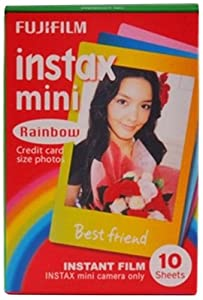 Fuji Instax Mini Film 10 Exposures - Rainbow