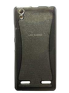 Original Skylet TM Premium Quality Sparkle Soft TPU Back Case for Lenovo A6000(Black Colour)+ Free Screen Guard