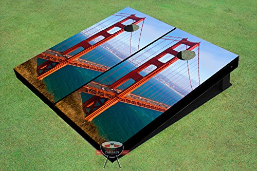 Golden Gate Bridge #2 Theme Corn Hole Boards Cornhole Game Set