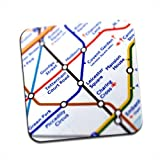 Close Up Tube Map Leicester Square, London Single Premium Glossy Wooden Coaster
