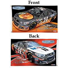 Buy #14 Tony Stewart 2 Sided 3x5 Flag 2013 Bass Pro and Mobil 1 Car NASCAR by WinCraft