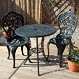 Alfresia Traditional Bistro Set in Anthracite