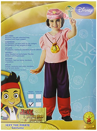 DISNEYS IZZY THE PIRATE CHILDRENS FANCY DRESS KIDS HALLOWEEN COSTUME OUTFIT NEW
