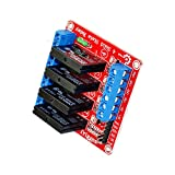 BOOOLE Arduino Compatible 4-Contact Solid-State Relay(Red) - DIY Maker Open Source