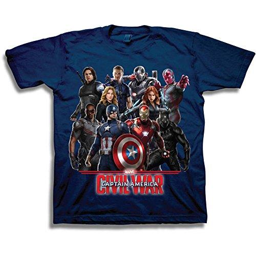Marvel-T-shirt-Garon-Bleu-Bleu-marine