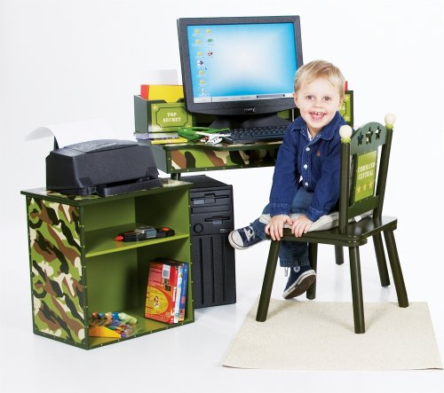 Buy Low Price Comfortable Top Secret Computer Desk & Chair Set (B001BZHXOY)