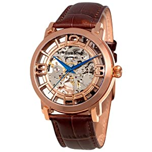 Stuhrling Original Men's 165B2.3345K14 Winchester 44 Automatic Skeleton Black Dial Watch