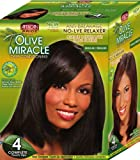 African Pride Olive Miracle Deep Conditioning No-Lye Relaxer - Regular Kit 4-Count by African Pride