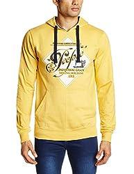 People Men's Cotton Sweatshirt (8903880778019_P10101358030513_XX-Large_Yellow)