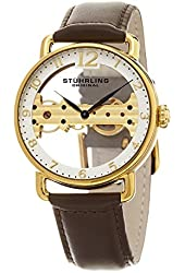 Stuhrling Original Men's Mechanical Skeletonized Bridge Dress Watch GP15667