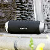 KONCERT Kapsule ALL In One Portable NFC Bluetooth Wireless Speaker BLACK with 4000mah Li-ion USB Charging Support Hand Free Speakerphone System Drop Proof Water Resistant and LED Lighting Designed