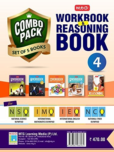 Class 4: Work Book and Reasoning Book Combo for NSO-IMO-IEO-NCO