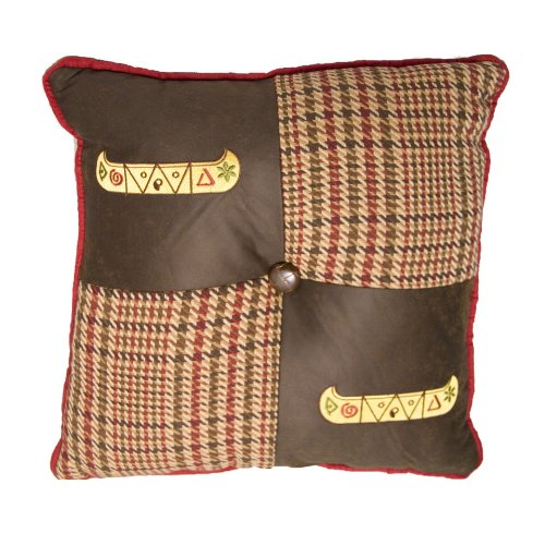 HiEnd Accents Embroidered Canoe Pillow