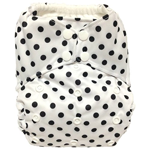 "All In One (AIO) Cloth Diaper ""Classy Polka Dots"" - 1"