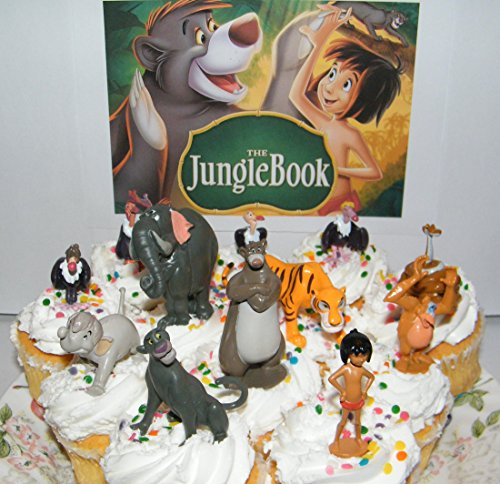 Disney The Jungle Book Deluxe Mini Cupcake Decorations