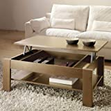 table basse relevable chene