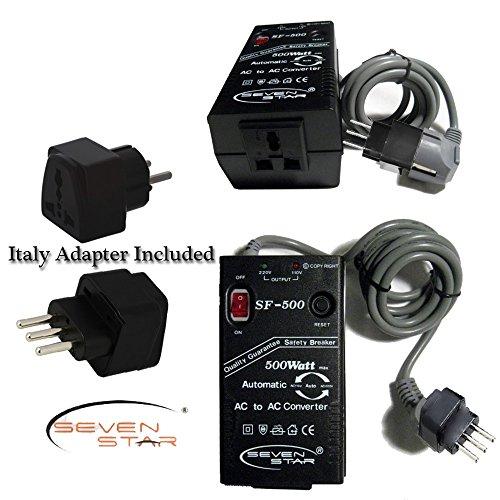 Seven Star Sf500 500W 110V/220V 220V/110V Step Up/Down Automatic Transformer Adapter + Italian Plug Adapter front-391910