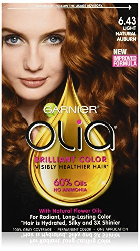 Garnier Olia Oil Powered Permanent Hair Color, 6.43 Light Natural Auburn (Packaging May Vary) (Natural Dye Hair compare prices)