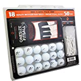 Reload Recycled Golf Balls (18-Pack) Top Flite Golf Balls with Gloves and Tees