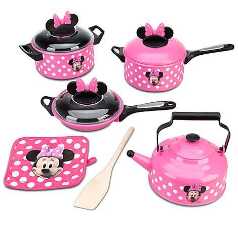 Disney Store Minnie Mouse Kitchen Play Set Pots N Pans Cooking Set Kitchen