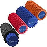 Premium Foam Roller Set - 2 Rollers, 2 Density Levels, 3 Contours - Best for Self-Myofascial Release, Deep Tissue Massage, Knots in Muscles, Decrease Recovery Time - Yoga, Pilates - EcoFriendly (Blue)