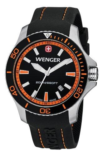 Wenger - 010641102 - Montre Homme - Quartz Analogique - Bracelet Silicone Noir