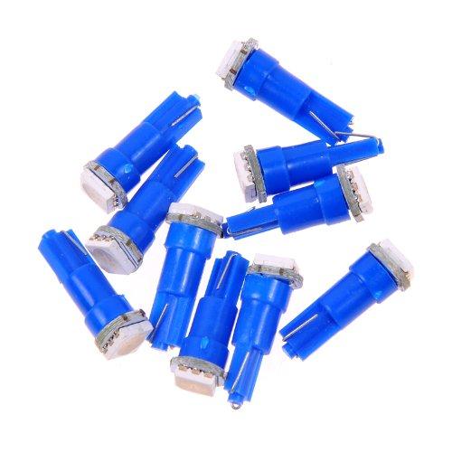 10*T5 Wedge 5050 Blue Smd Gauge Cluster Speedometer Led Light Bulb