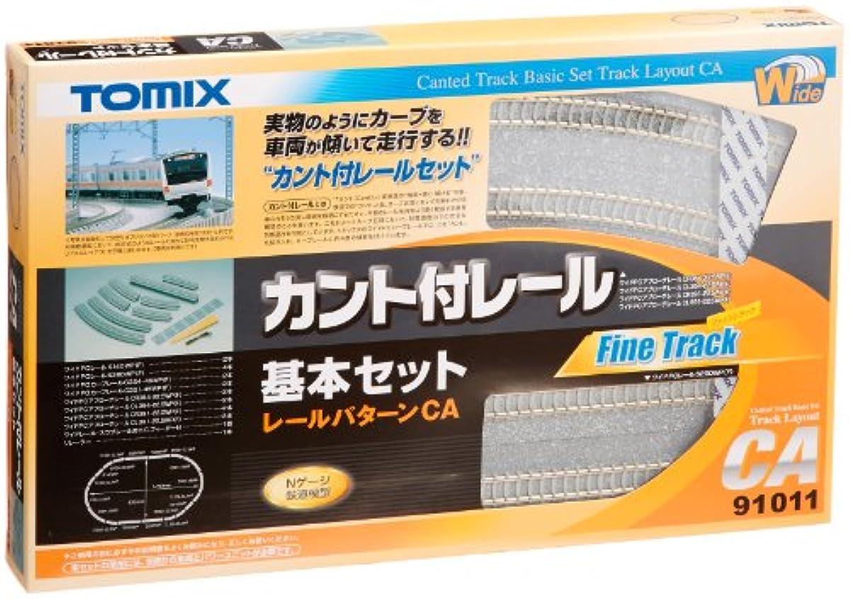[해외] TOMIX N게이지 cant부 레일 기본 세트CA 91011 철도 모형 용품-91011
