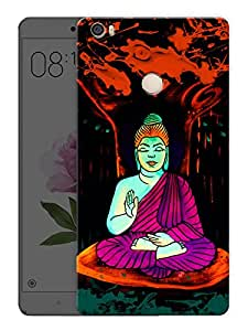 """Buddha Meditation Neon Art TrippyPrinted Designer Mobile Back Cover For """"Xiaomi Redmi Max"""" (3D, Matte, Premium Quality Snap On Case)"""