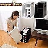 ゲームラック Wiiリモコン収納棚 ソフト DVDラック(ブラック, Sサイズ)