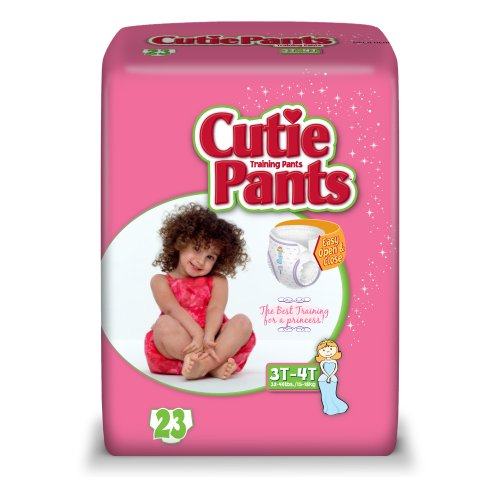 Cuties Training Pants, Girl, 92 Count (Pack of 4) - 1