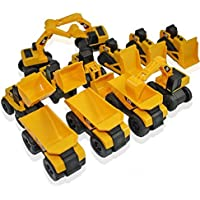 Toy State Cat Caterpillar Construction Toys Mini Machine Set Of 12 Assorted Dump Truck, Bulldozer, Wheel Loader...
